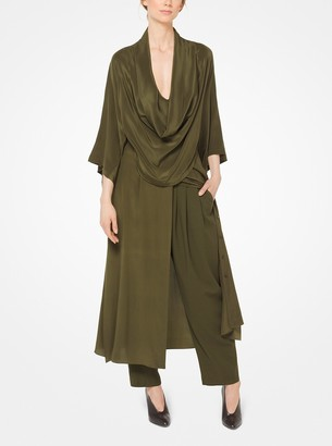 Michael Kors Collection Silk-Georgette Cowl-Neck Shirtdress