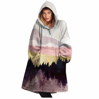 Whycat Hoodie Blanket Ultra Soft Sherpa Fleece Warm Cosy Comfy Oversized Wearable Hooded Sweatshirt Throw for Women Girls Big Pocket Light Pink