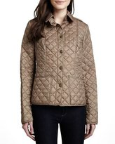 Burberry kencott quilted snap front cropped jacket