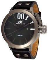 Adee Kaye Men's AK7285-MIPB Analog Display Japanese Quartz Black Watch