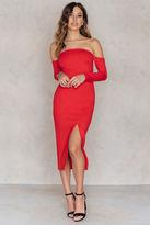 Front Slit Off Shoulder Dress