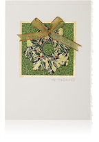 Constance Kay Origami Wreath Holiday Card-GREEN