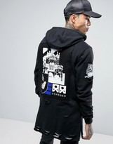 Reason Longline Hoodie With Patches