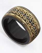 Resin Chain Wide Bangle