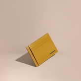Burberry London Leather Card Case, Yellow