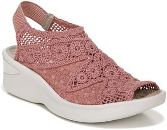 BZees Surprise Crochet Wedge Sandal
