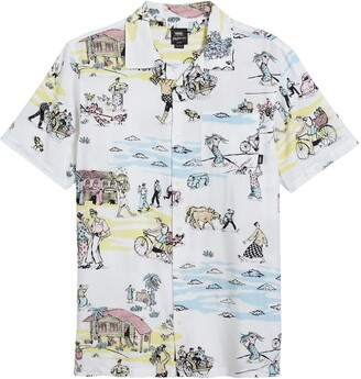 Vans Kide Camp Print Short Sleeve Button-Up Camp Shirt