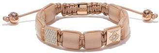 Shamballa Jewels 18kt rose gold, diamond and quartz Lock beaded bracelet