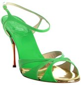 lime green patent leather 'Noeudette' sandals