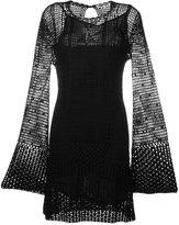 McQ by Alexander McQueen perforated dress - women - Silk/Polyamide/Viscose - S