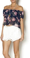 Lucy Paris Off Shoulder Floral Blouse