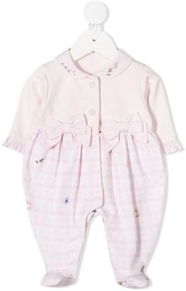 Lapin House Floral-Print Checked Pajamas