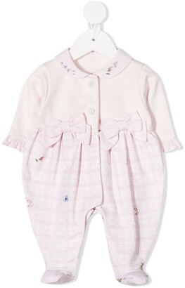 Lapin House Floral-Print Checked Pajamas