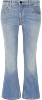 Alexander Wang Cropped Mid-rise Bootcut Jeans - Light denim
