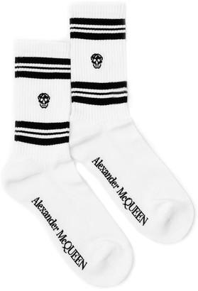 Alexander McQueen Stripe Skull Motif Socks