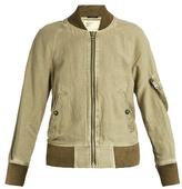 R 13 Shrunken-fit cotton-blend flight jacket