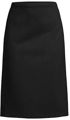 Donna Karan Slit Compression Ponte Skirt