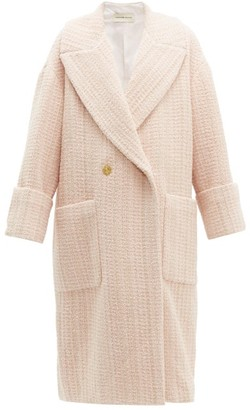 Alexandre Vauthier Oversized Wool-blend Boucle-tweed Coat - Womens - Light Pink