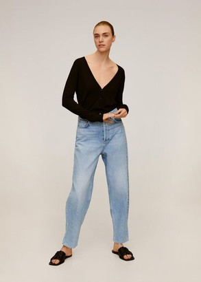 MANGO Medium wash fit Balloon Jeans medium blue - 1 - Women
