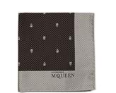 Alexander McQueen Skull and polka-dot jacquard silk pocket square