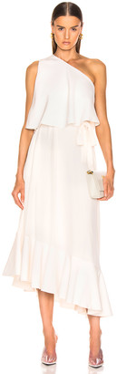 Stella McCartney One Shoulder Dress in White   FWRD
