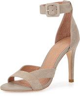 Joie Alvita Suede Ankle-Wrap Sandal, Sandstone
