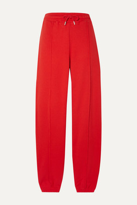Ninety Percent + Net Sustain Organic Cotton-jersey Track Pants - Red