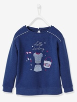 Vertbaudet Girls Sweatshirt with Motifs