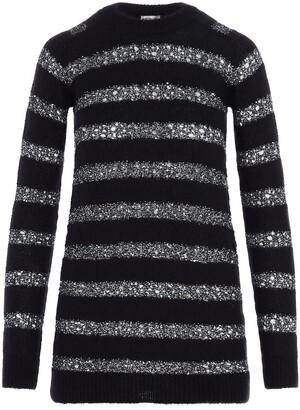 Saint Laurent Sequin Striped Knitted Dress