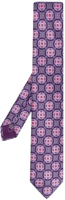 Brioni Abstract Pattern Silk Tie