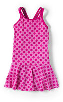 Classic Girls Plus Size Skirted One Piece Swimsuit-Frosted Lavender Mini Horses