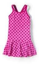 Classic Girls Plus Size Skirted One Piece Swimsuit-Vibrant Magenta Breton Stripe