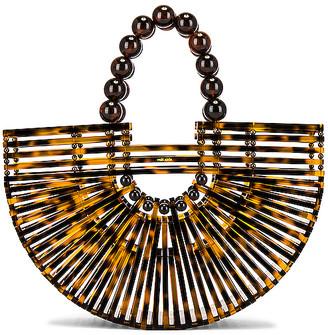 Cult Gaia Fan Ark Mini Top Handle Bag