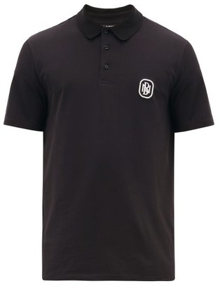 Neil Barrett Logo-patch Cotton Polo Shirt - Mens - Black