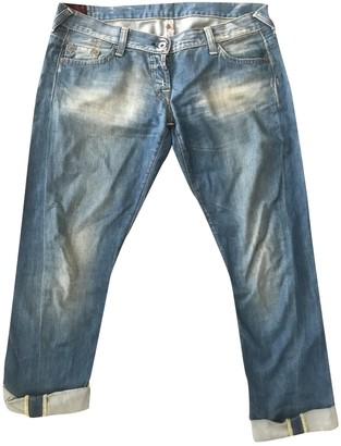 Evisu Blue Cotton Jeans