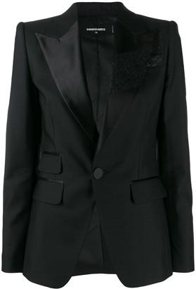 DSQUARED2 Glitter Brush Tuxedo Jacket