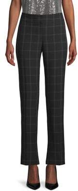 Kasper Slim Windowpane Pants