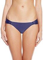 Sofia by Vix Women's Blue Dream Solid Drape Full Bikini Bottom