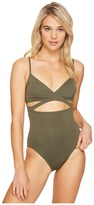 Vince Camuto Fiji Solids Wrap One-Piece Women's Swimsuits One Piece