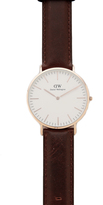 Daniel Wellington Bristol Watch with 40mm White Dial & Leather Band