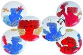 Bernardaud L'Art de la Table Mythologie by Fassianos Coupe Plates, Set of 6