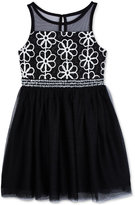 Amy Byer Soutache Mesh Illusion Dress, Girls (7-16)