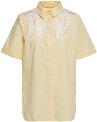 Maje Embroidered Poplin Shirt