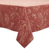 "Sur La Table Persimmon Paisley Tablecloth, 69"" x 69"""