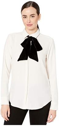 Lauren Ralph Lauren Georgette Shirt (Mascarpone Cream) Women's Clothing