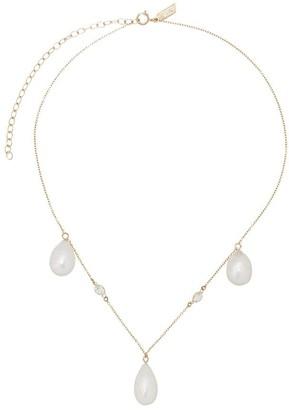 Loren Stewart 14kt Gold Lace Pearl Necklace