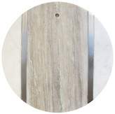 Jay Import Marble & Wood Round Cutting Board