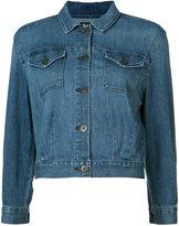 3x1 cropped denim jacket - women - Cotton/Spandex/Elastane - S