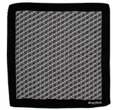 Hardy Amies Black Hexagon Geo Pocket Square