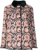 Etro paisley print short coat - women - Artificial Fur/Polyester - 40